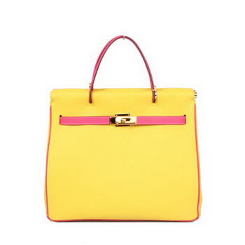 Hermes-Spring-Summer-2013-Shopping-Bag-H1327-Lemon